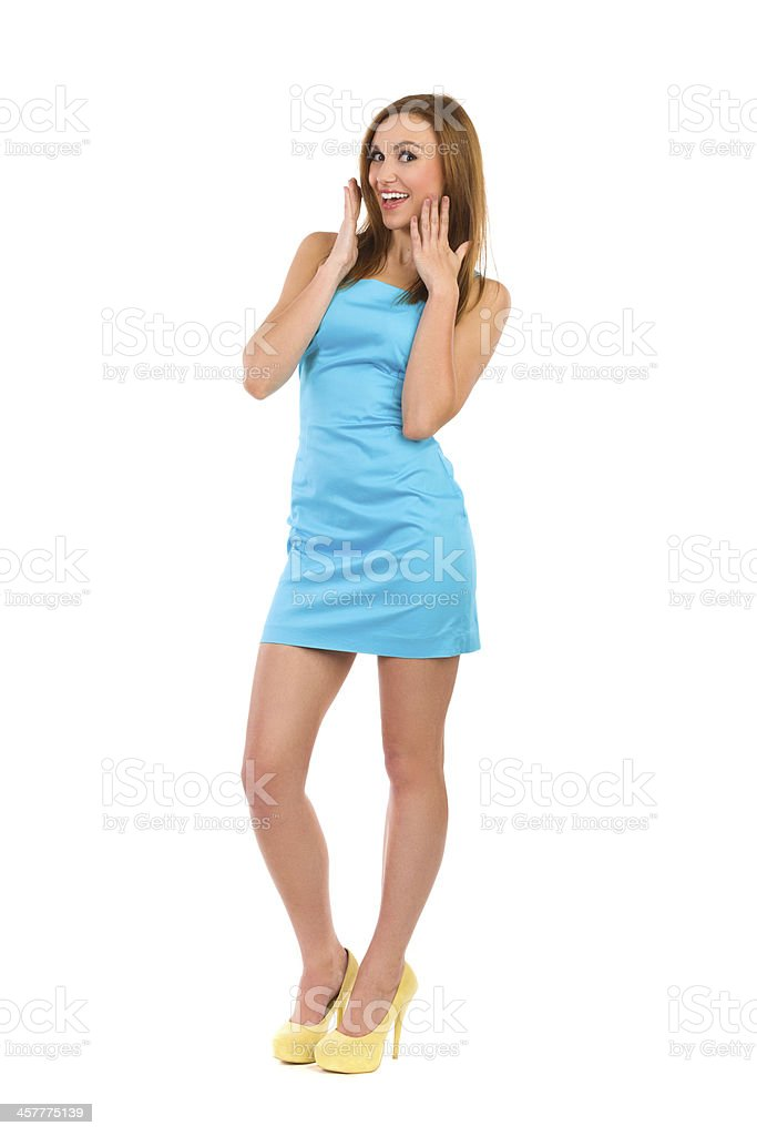 Happy young woman. royalty-free stock photo