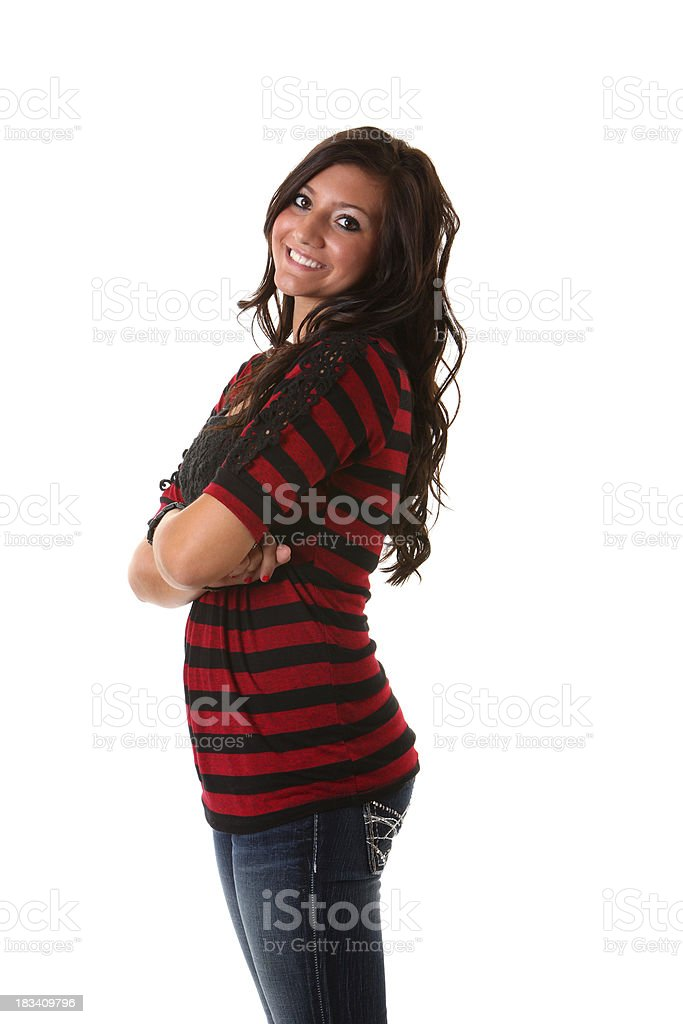 happy young woman portrait royalty-free stock photo