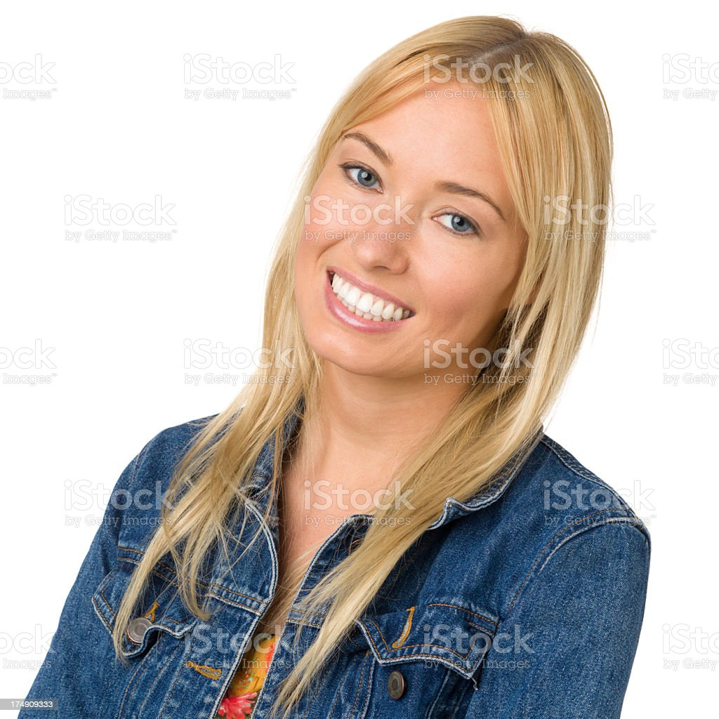 Happy Young Woman Smiling Portrait royalty-free stock photo