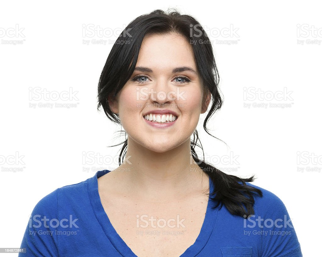 Happy Young Woman Smiling Portrait stock photo