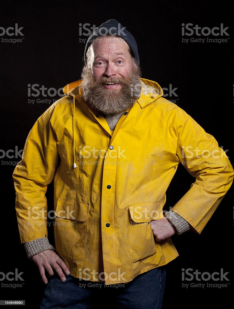 hapy fisherman stock photo
