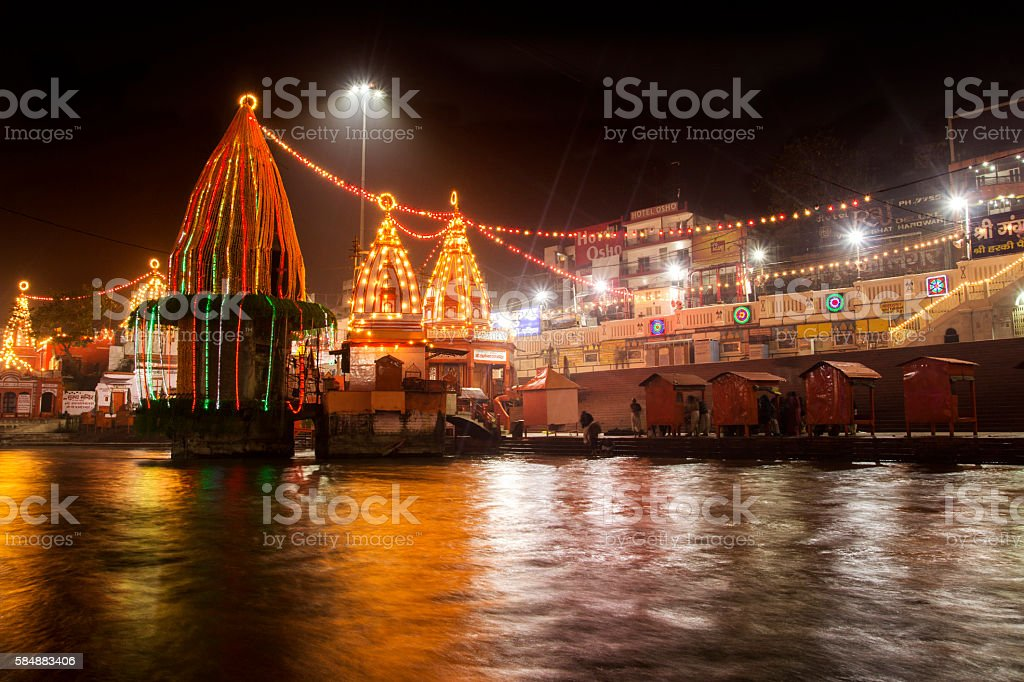 Har Ki Pauri Haridwar stock photo