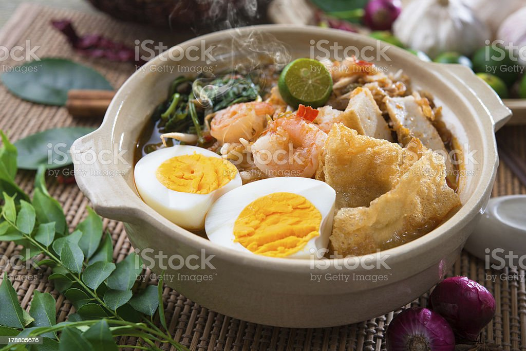 Har mee, prawn noodles. stock photo