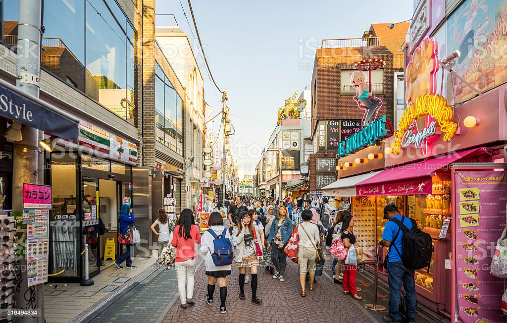 Harajuku - Takeshita Street. Tokyo, Japan. stock photo