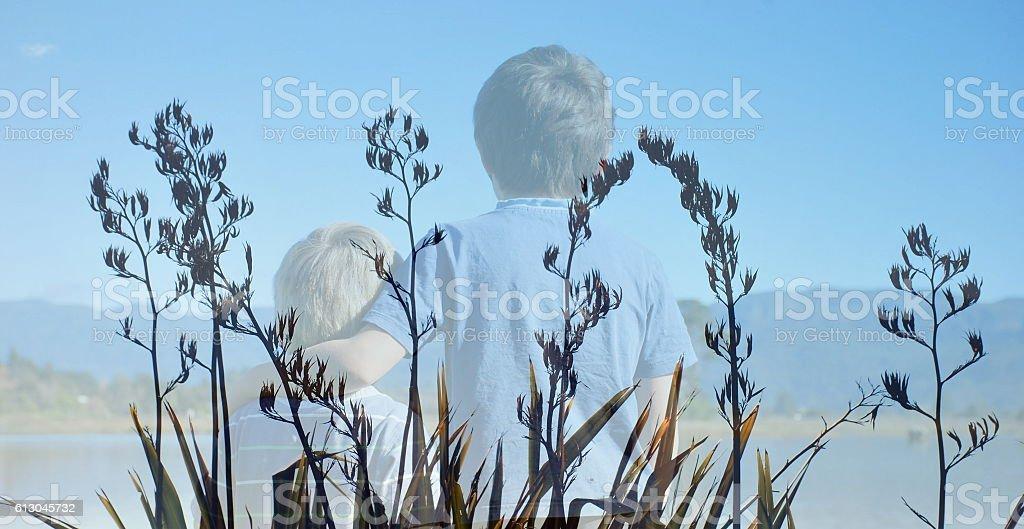 Harakeke (New Zealand Flax) Boys stock photo