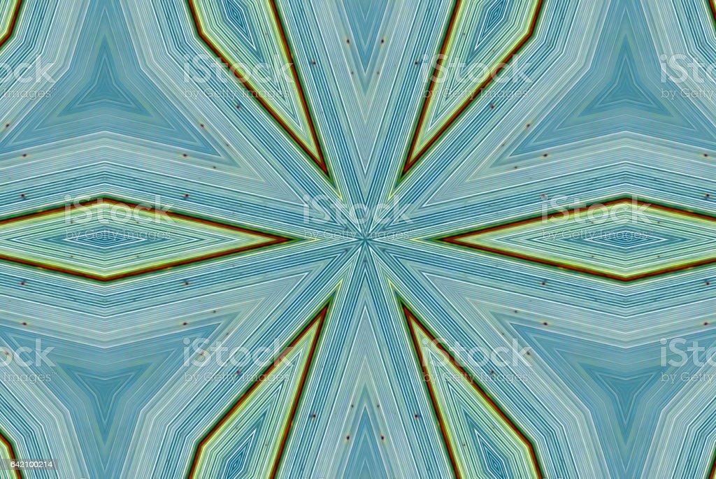 Harakeke (New Zealand Flax) Mandala stock photo