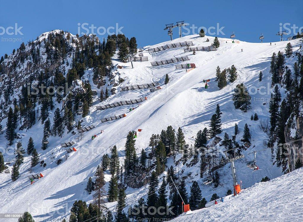 Harakiri ski piste in Mayrhofen, Austria stock photo