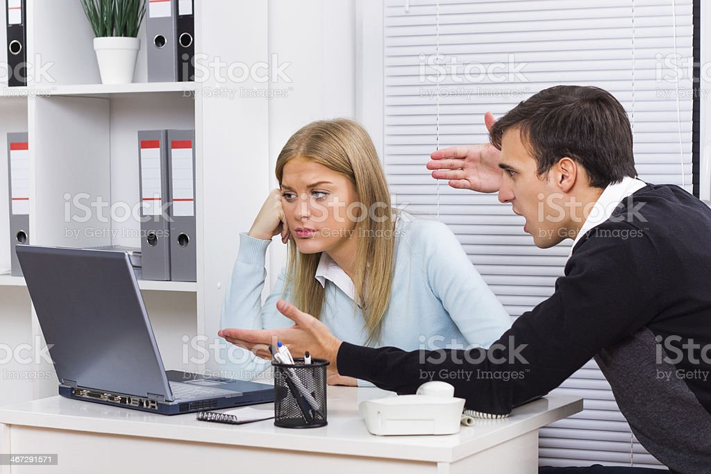 Harassment at work stock photo