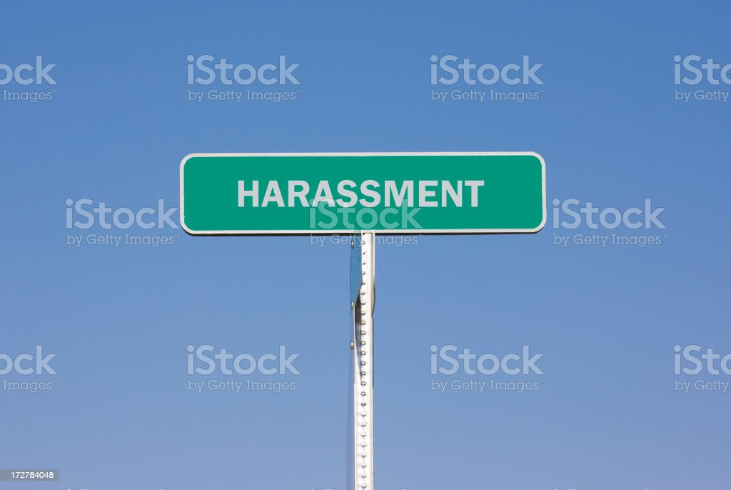 Harassment Sign royalty-free stock photo