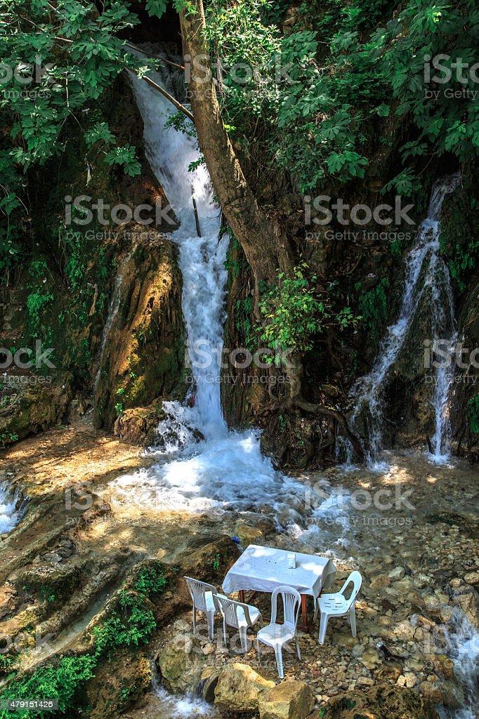 Harbiye Waterfall stock photo