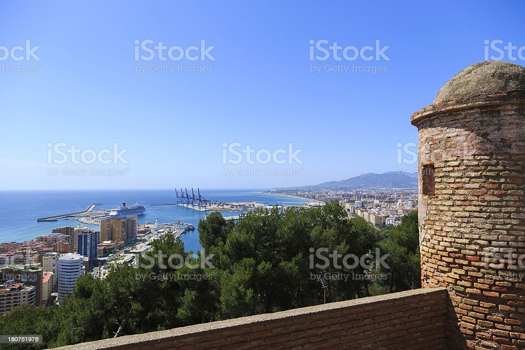 harbor and city view royalty-free stock photo