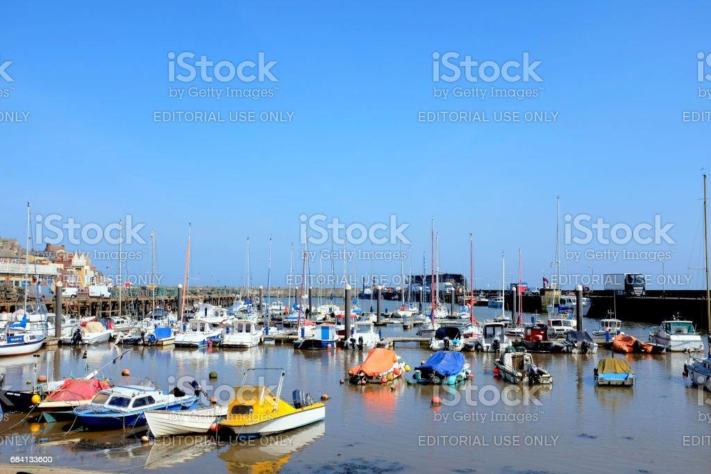 Harbor and Marina, Bridlington, Yorkshire. stock photo