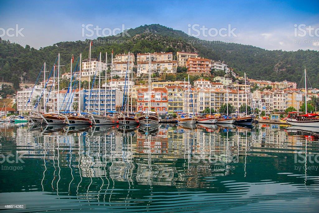 Harbor at Antalya, Turkey stock photo