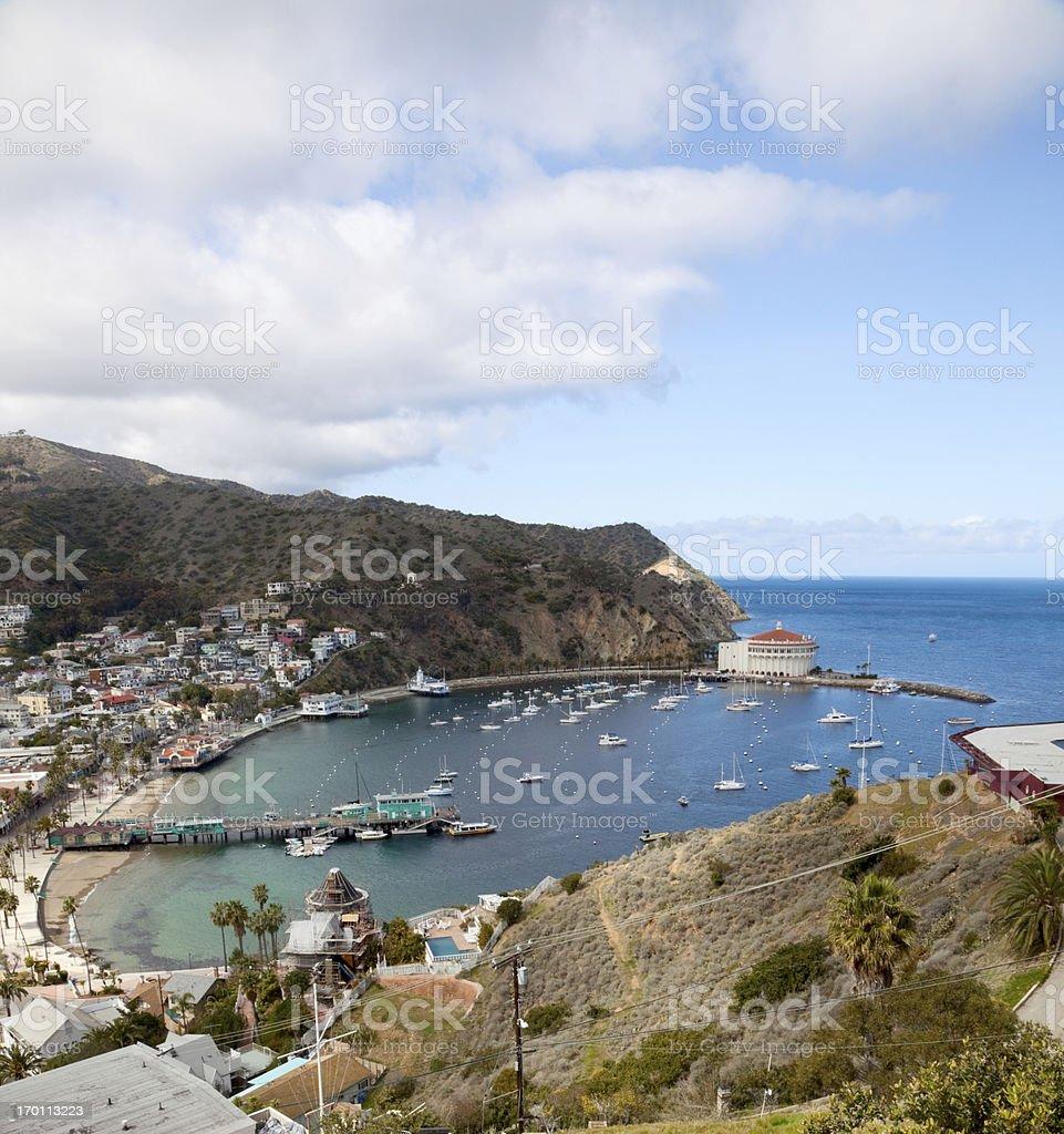 Harbor at Avalon, Catalina Island stock photo