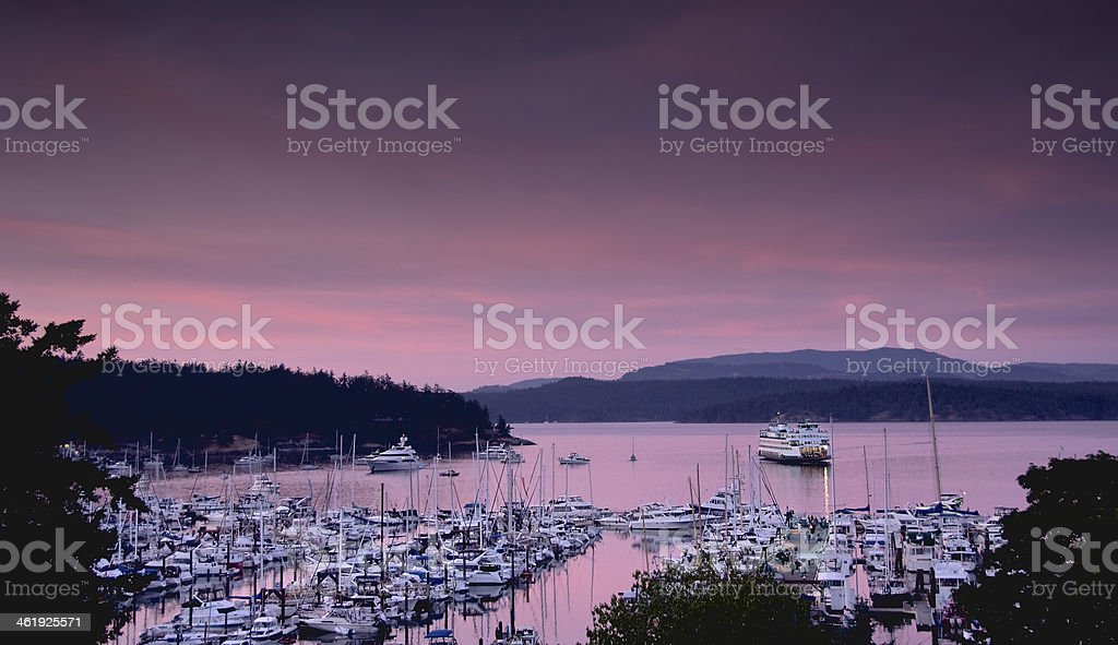 Harbor at Dusk stock photo