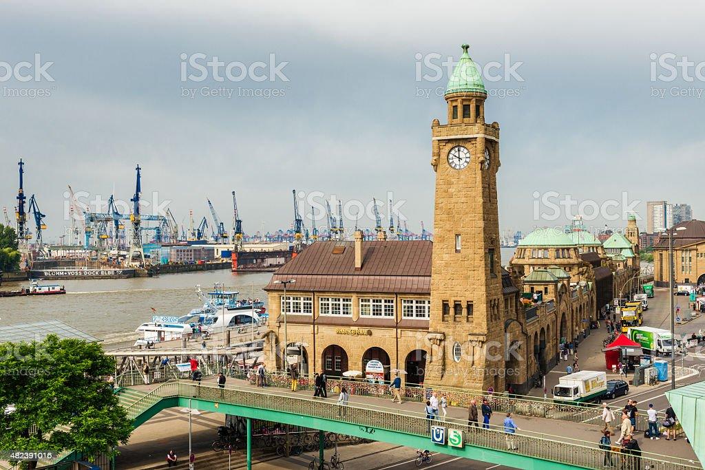 harbor at Hamburg stock photo