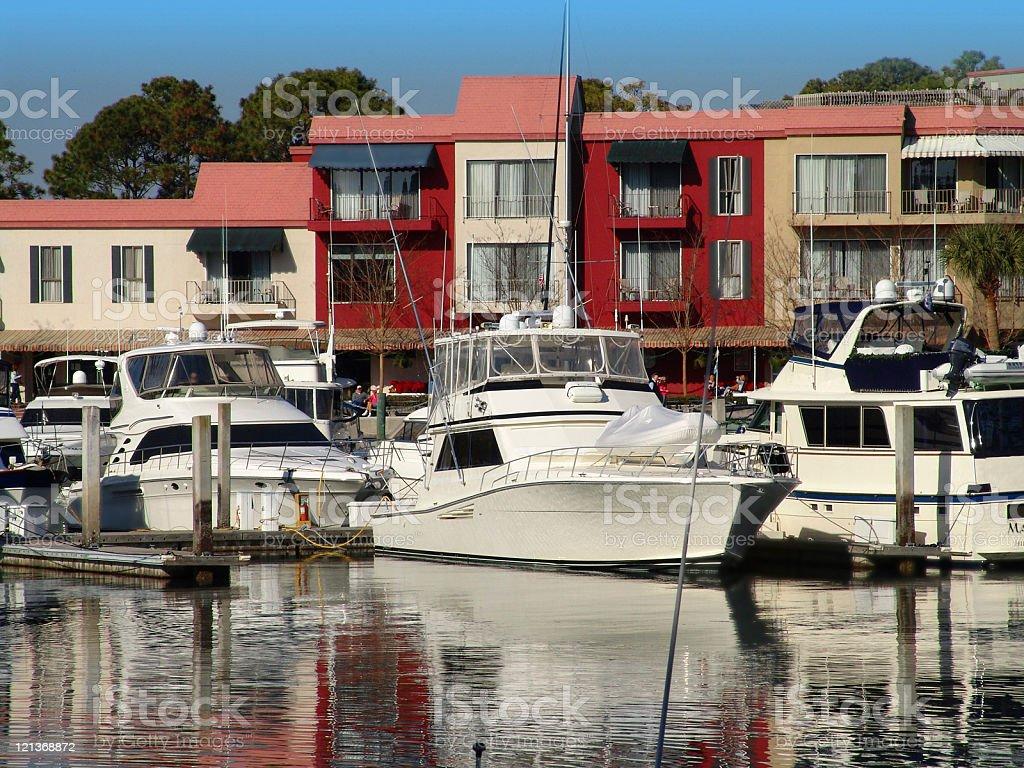 Harbor at Hilton Head Island royalty-free stock photo