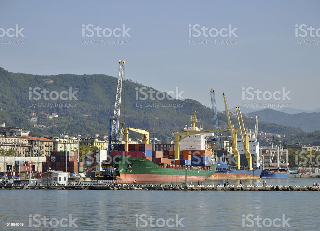 Harbor at La Spezia, Iztaly stock photo