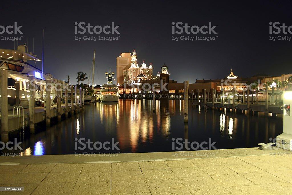Harbor at night royalty-free stock photo