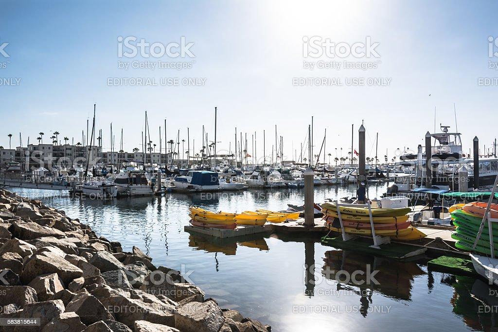 Harbor at Oceanside, California stock photo
