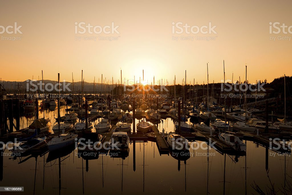 Harbor at Sunset royalty-free stock photo