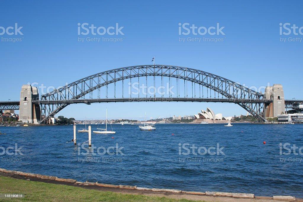 Harbor Bridge - Sydney royalty-free stock photo