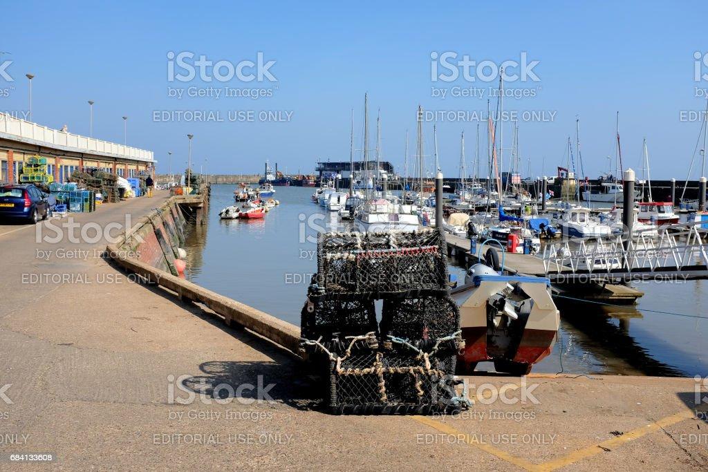 Harbor, Bridlington, Yorkshire. stock photo