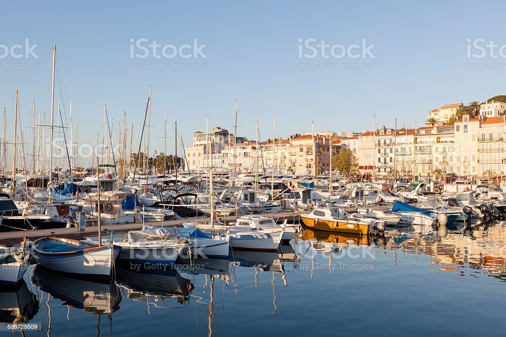 Harbor Cannes stock photo