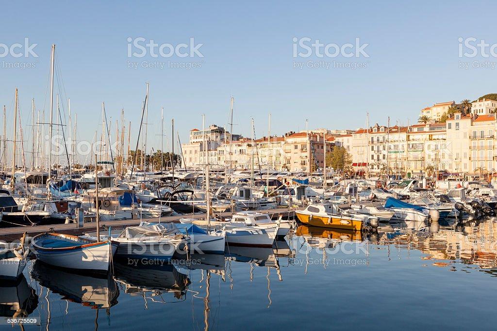 Harbor Cannes stock photo