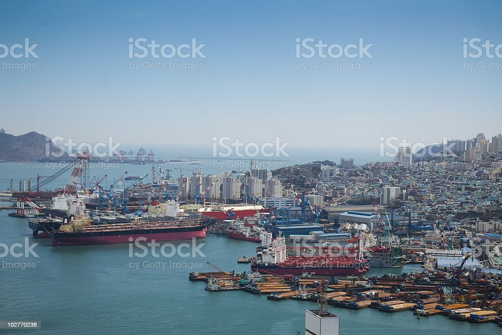 Harbor/ Cargo / Aerial View / Asia royalty-free stock photo