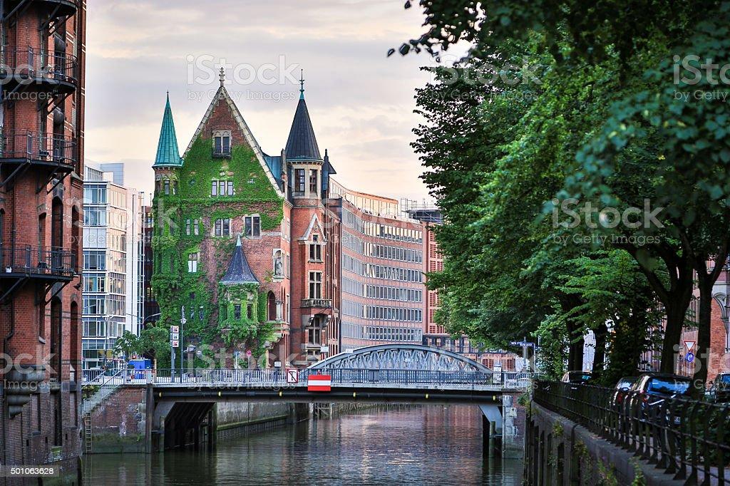 Harbor City - Hamburg stock photo