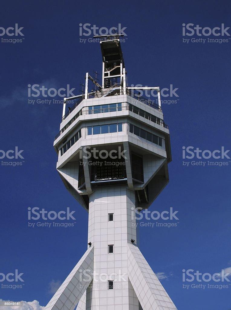 Harbor Control Tower stock photo
