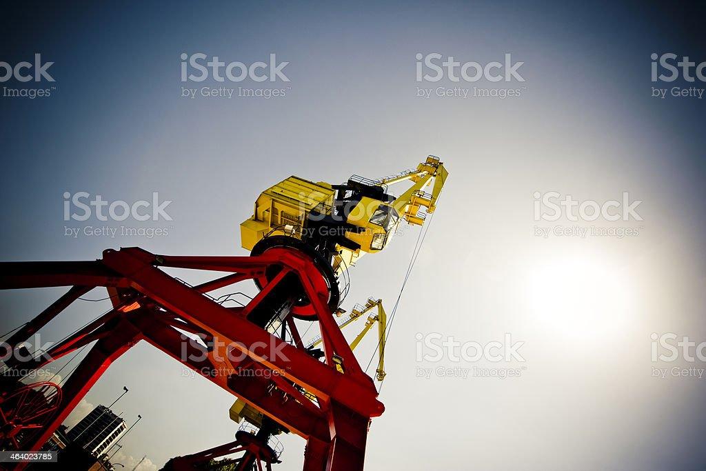 Harbor Crane Industry stock photo