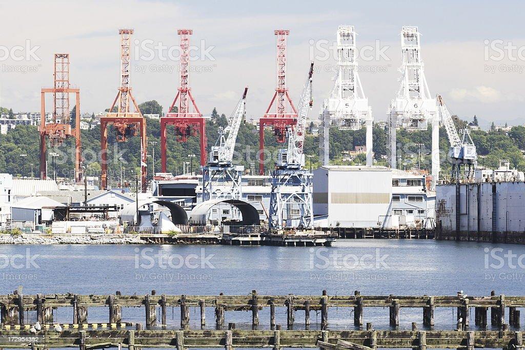 Harbor Crane Loading Freight royalty-free stock photo