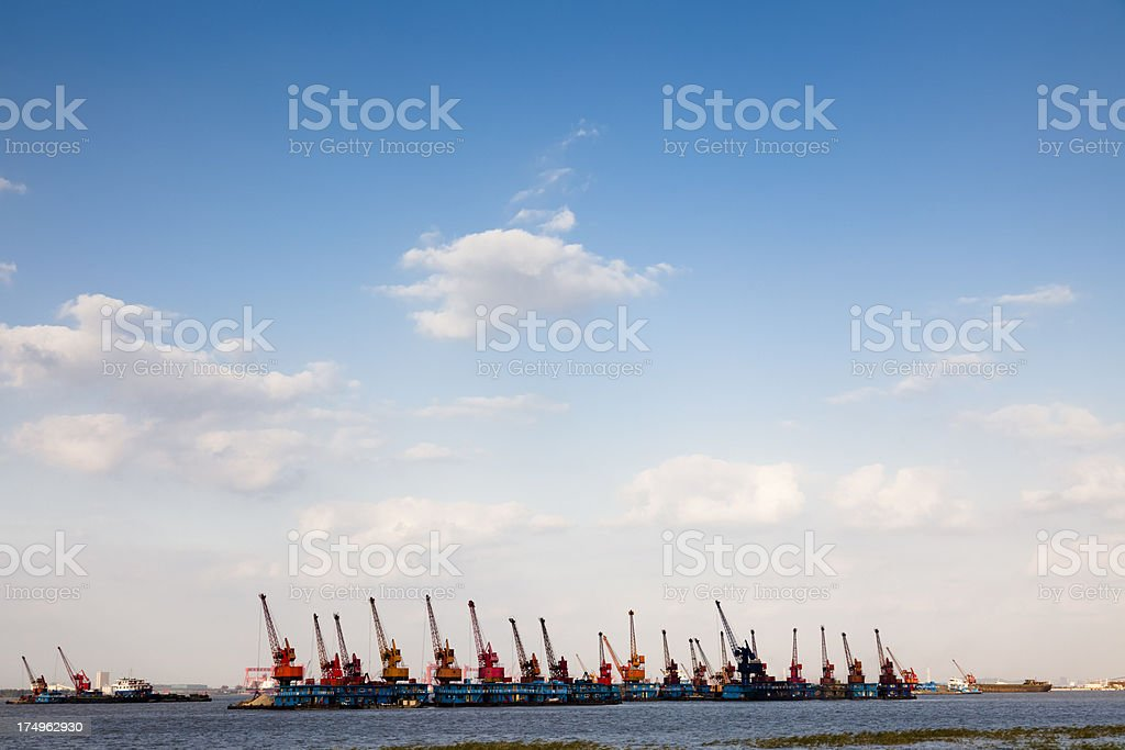 harbor crane royalty-free stock photo