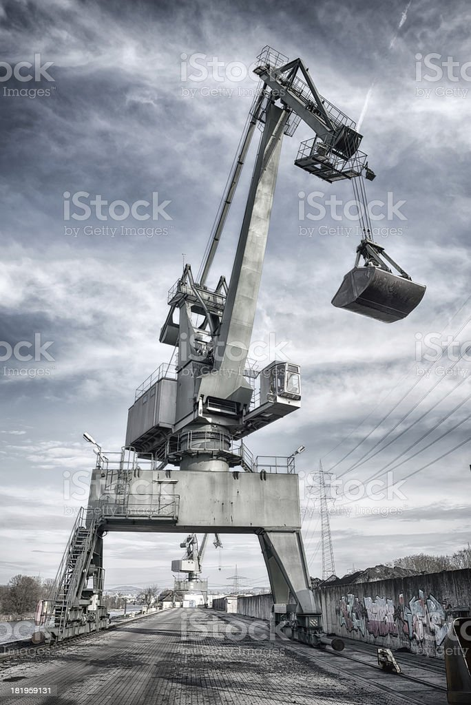 Harbor crane. royalty-free stock photo