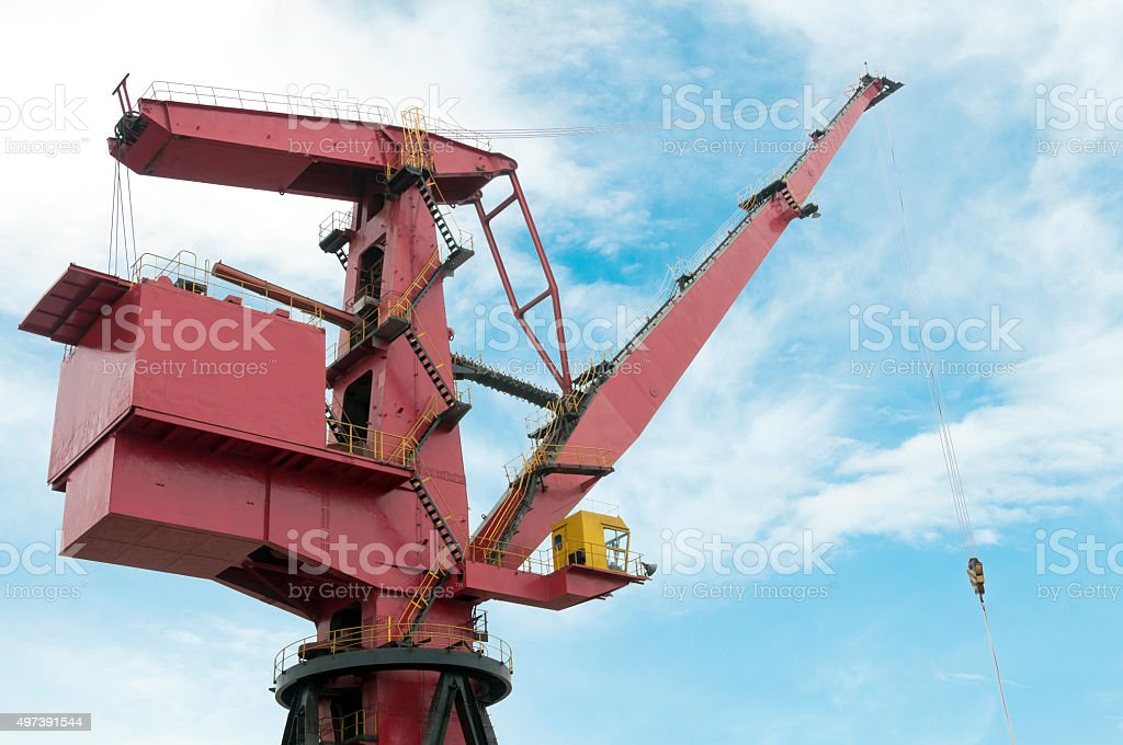 Harbor Crane stock photo