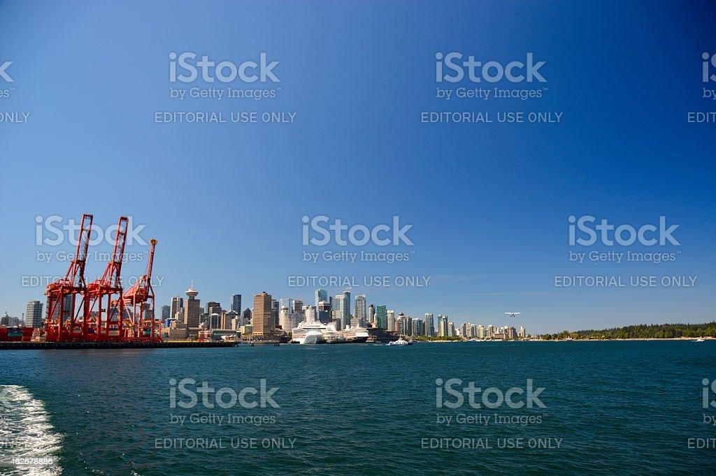 Harbor Cranes - freight terminal stock photo