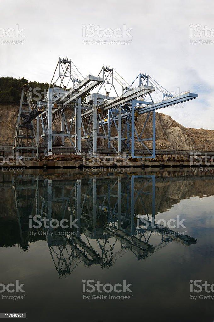 Gru del porto foto stock royalty-free