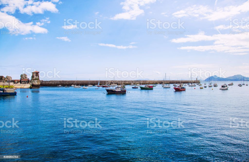 Harbor de castro Urdiales, Spain stock photo
