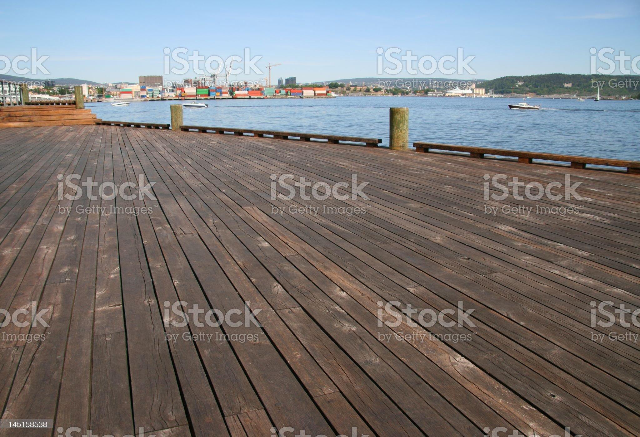 Harbor deck royalty-free stock photo