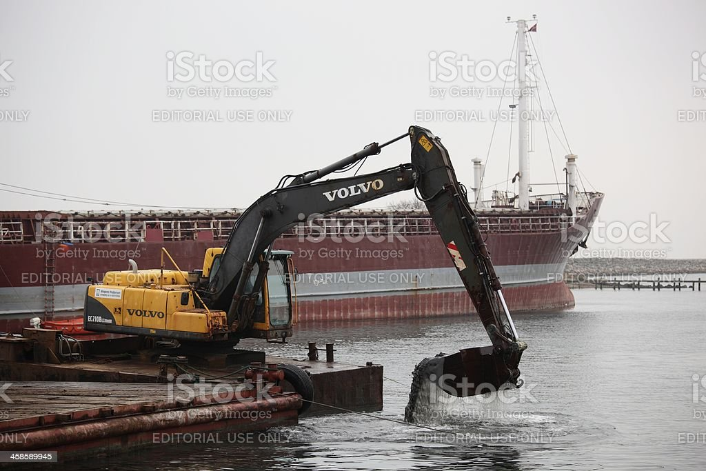 Harbor Deepening stock photo