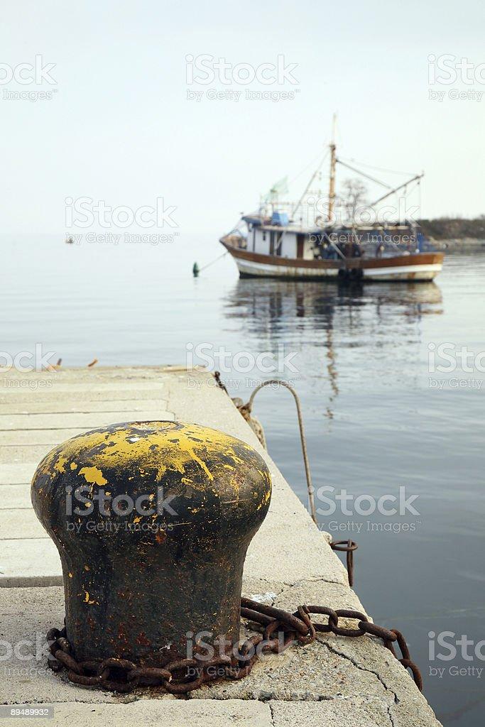 Harbor details-Ika-Croatia-Europe royalty-free stock photo