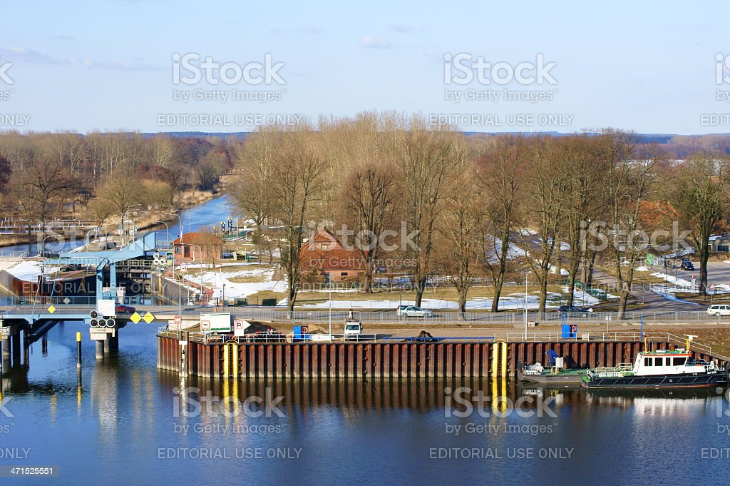 Harbor Doemitz royalty-free stock photo