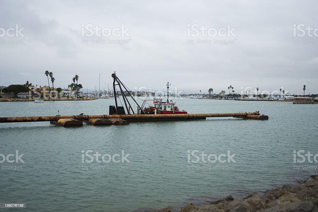 Harbor Dredging royalty-free stock photo