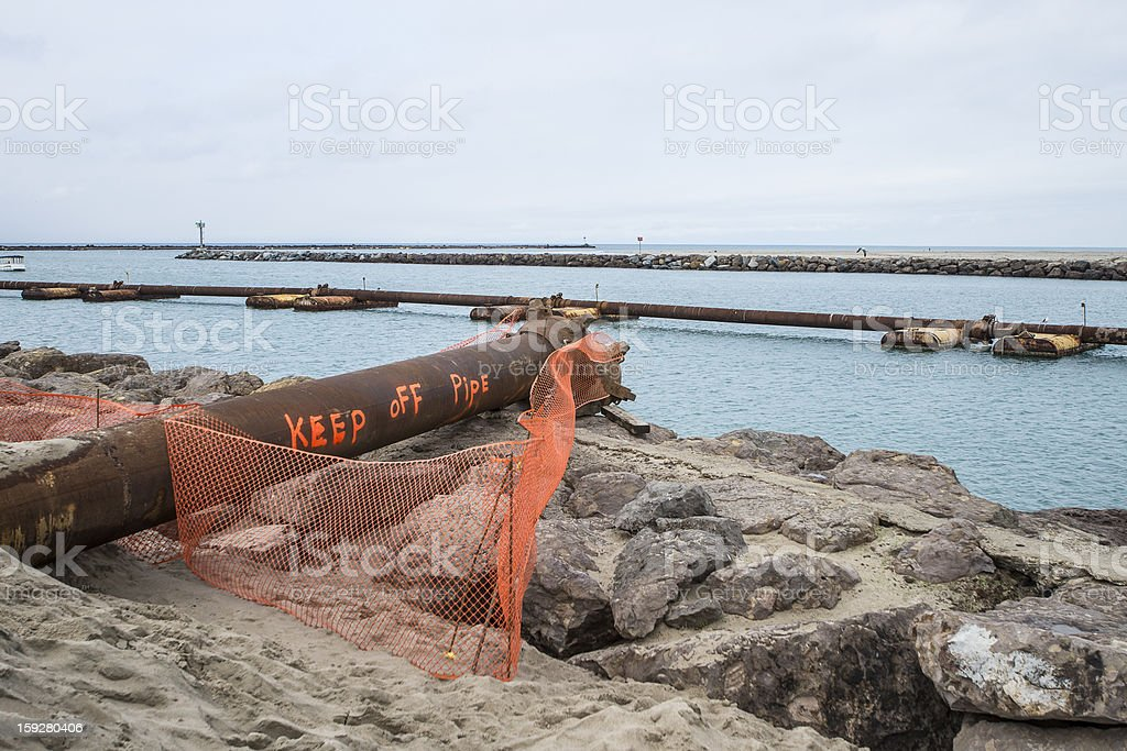 Harbor Dredging royalty-free stock photo