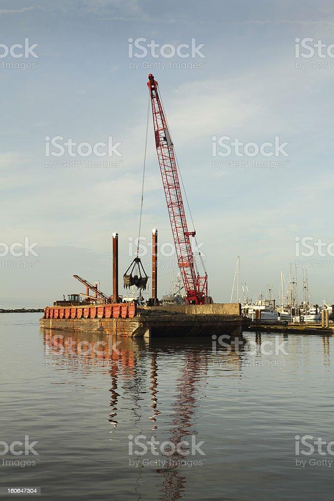 Harbor Dredging, Steveston royalty-free stock photo