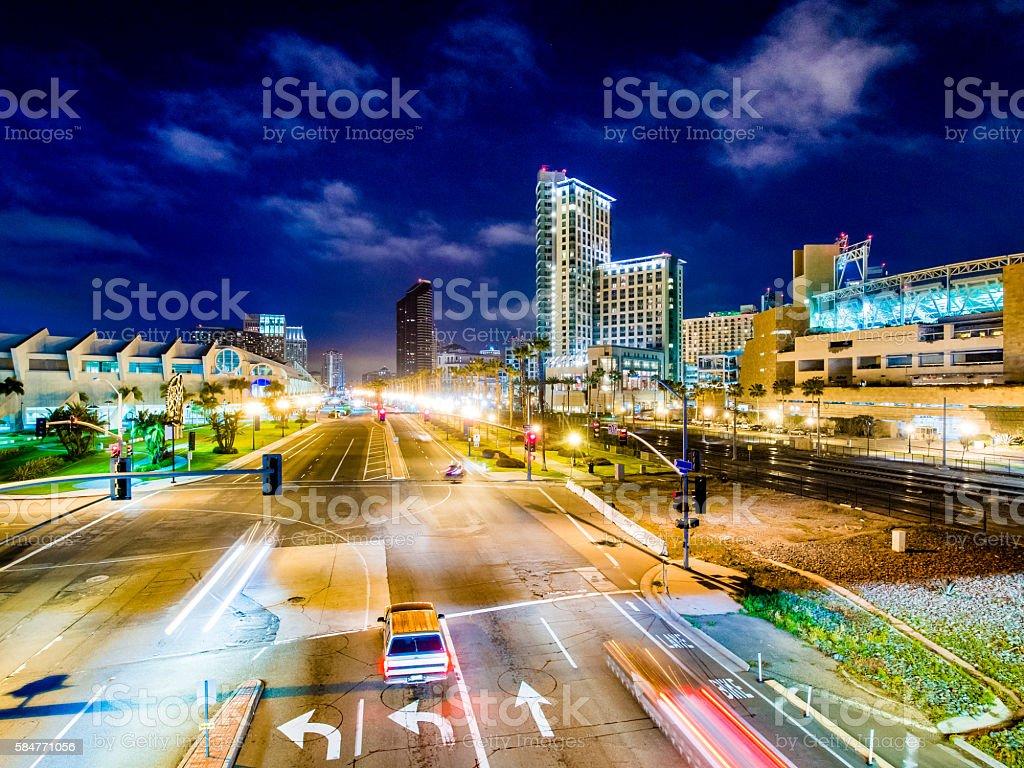 Harbor Drive in San Diego stock photo