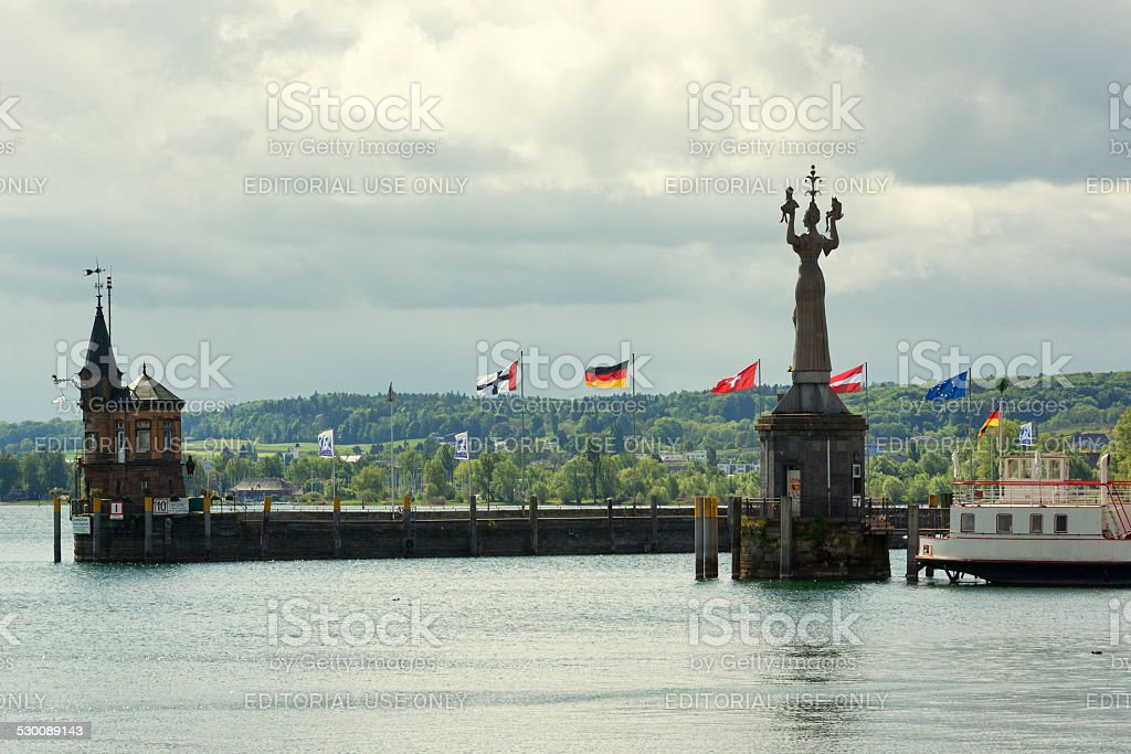 Harbor entrance stock photo