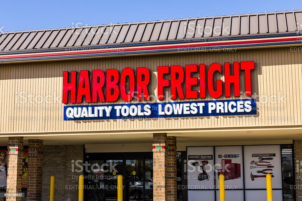 Harbor Freight Tools Strip Mall Location II stock photo
